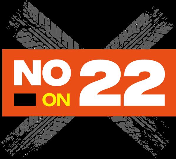 No on prop 22 logo simple